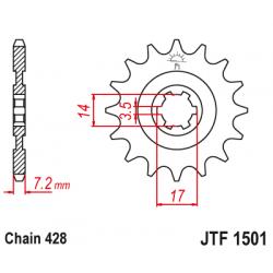 Предно зъбчато колело (пиньон) JTF1501,13