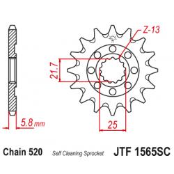 Самопочистващо се предно зъбчато колело (пиньон) JTF1565SC,14