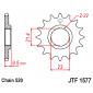 Предно зъбчато колело (пиньон) JTF1577,15