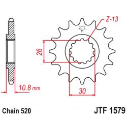 Предно зъбчато колело (пиньон) JTF1579,16