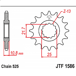 Предно зъбчато колело (пиньон) JTF1586,16