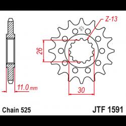 Предно зъбчато колело (пиньон) JTF1591,15