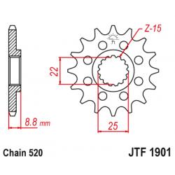 Предно зъбчато колело (пиньон) JTF1901,14