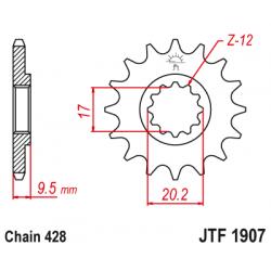 Предно зъбчато колело (пиньон) JTF1907,13