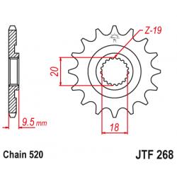 Предно зъбчато колело (пиньон) JTF268,12