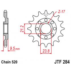 Предно зъбчато колело (пиньон) JTF284,14