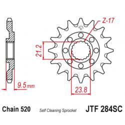 Самопочистващо се предно зъбчато колело (пиньон) JTF284SC,13