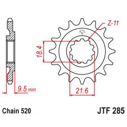 Предно зъбчато колело (пиньон) JTF285,13