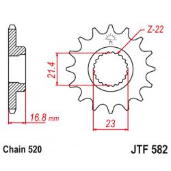 Предно зъбчато колело (пиньон) JTF582,16