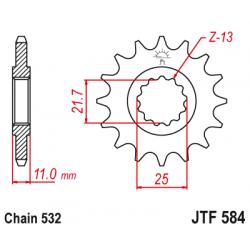 Предно зъбчато колело (пиньон) JTF584,16