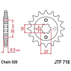 Предно зъбчато колело (пиньон) JTF718,13