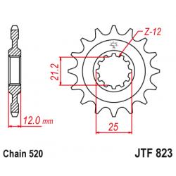 Предно зъбчато колело (пиньон) JTF823,13