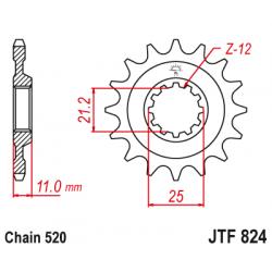 Предно зъбчато колело (пиньон) JTF824,12