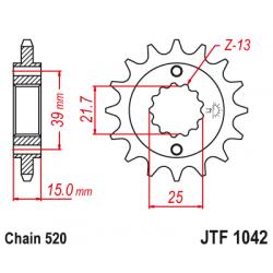 Предно зъбчато колело (пиньон) JTF1042,15
