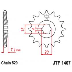 Предно зъбчато колело (пиньон) JTF1407,10