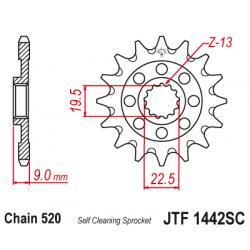 Предно зъбчато колело (пиньон) JTF1442SC,13