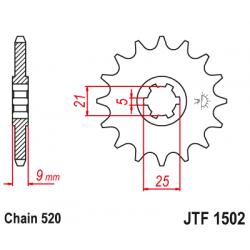 Предно зъбчато колело (пиньон) JTF1502,13