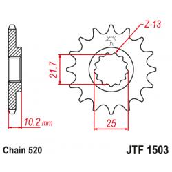 Предно зъбчато колело (пиньон) JTF1503,12