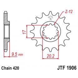 Предно зъбчато колело (пиньон) JTF1906,13
