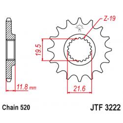 Предно зъбчато колело (пиньон) JTF3222,11