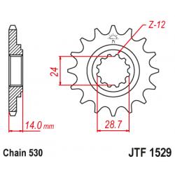 Предно зъбчато колело (пиньон) JTF1529,17