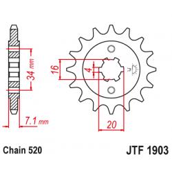 Предно зъбчато колело (пиньон) JTF1903,15