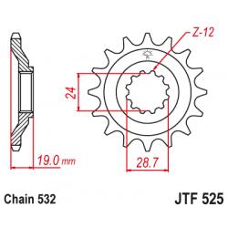 Предно зъбчато колело (пиньон) JTF525,17