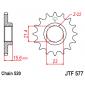 Предно зъбчато колело (пиньон) JTF577,15