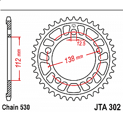 Задно зъбчато колело JTA302,45