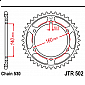 Задно зъбчато колело JTR502,44 thumb