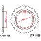 Задно зъбчато колело JTR1839,56 thumb