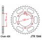 Задно зъбчато колело JTR1844,40 thumb