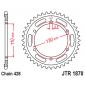 Задно зъбчато колело JTR1870,44 thumb
