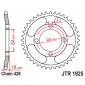 Задно зъбчато колело JTR1925,51 thumb