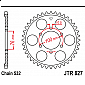 Задно зъбчато колело JTR827,48 thumb