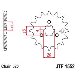 Предно зъбчато колело (пиньон) JTF1552,11