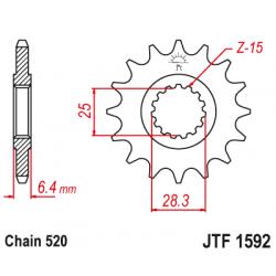 Предно зъбчато колело (пиньон) JTF1592,14