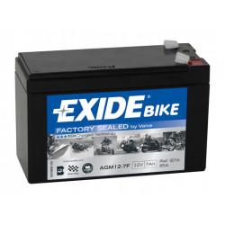 Мото акумулатор EXIDE 12V - AGM12-7F