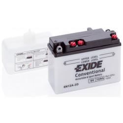 Мото акумулатор EXIDE 6V - 6N12A-2D