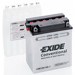 Мото акумулатор EXIDE 12V - 12N12A-4A-1