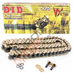 Мото верига DID 525VX GOLD&BLACK 110-звена DID525VXG&B110