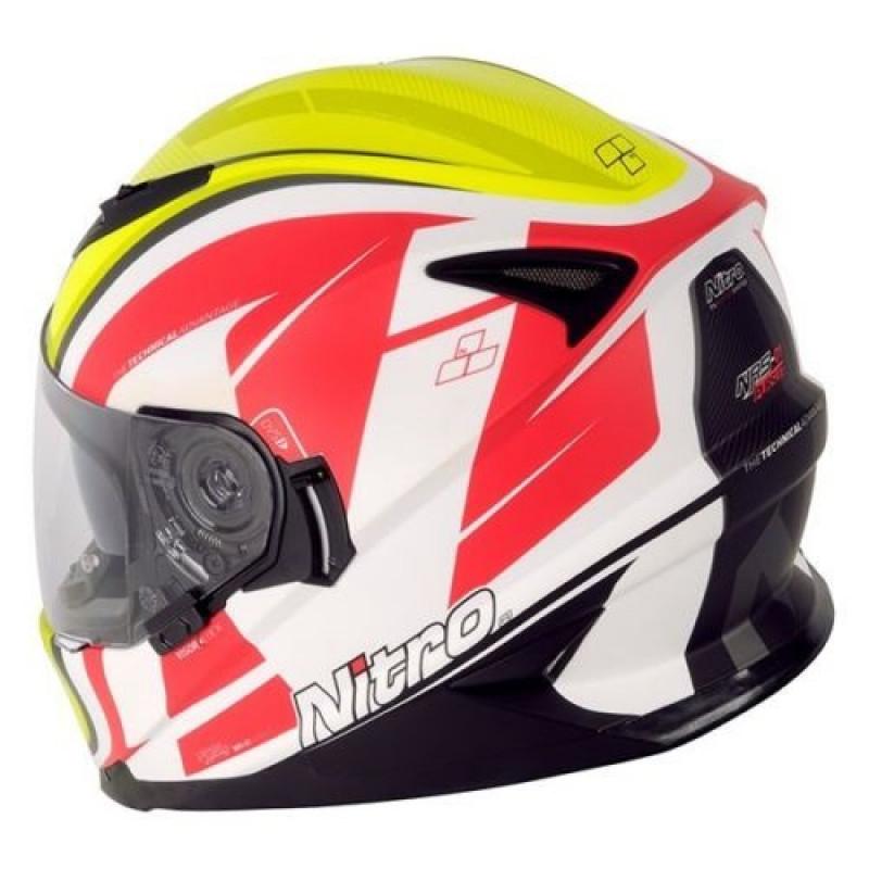 Каска за мотор NITRO NRS-01 PURSUIT WHT/SYEL/RED thumb