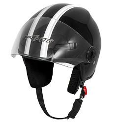 Каска за скутер FEVER BLACK