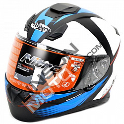 Kаска NITRO N3100 RIVAL WHITE/BLACK/BLUE MATT