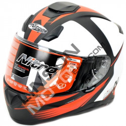 Kаска NITRO N3100 RIVAL WHITE/BLACK/RED MATT