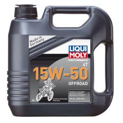 Мотокрос масло LIQUI MOLY 15W-50 4T OFFROAD  - 4 литра