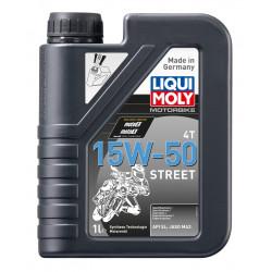 Полусинтетично масло за мотоциклети LIQUI MOLY SAE 15W-50 STREET - 1литър