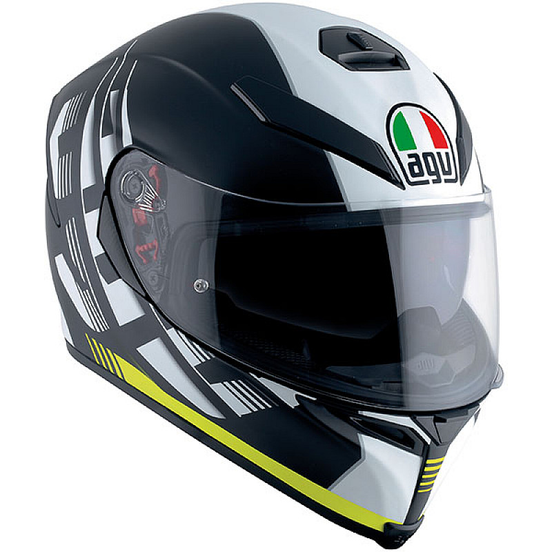 Каска AGV K5 DARKSTORM BLACK/YELLOW
