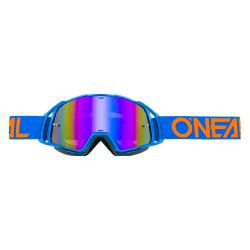 Мотокрос очила B-20 FLAT BLUE/ORANGE - RADIUM