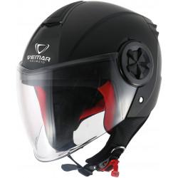 Каска за скутер VEMAR AIR SOLID GLOSS BLACK